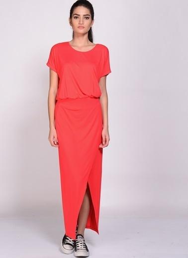 Limon Company U Yaka Kadın Elbise Kırmızı